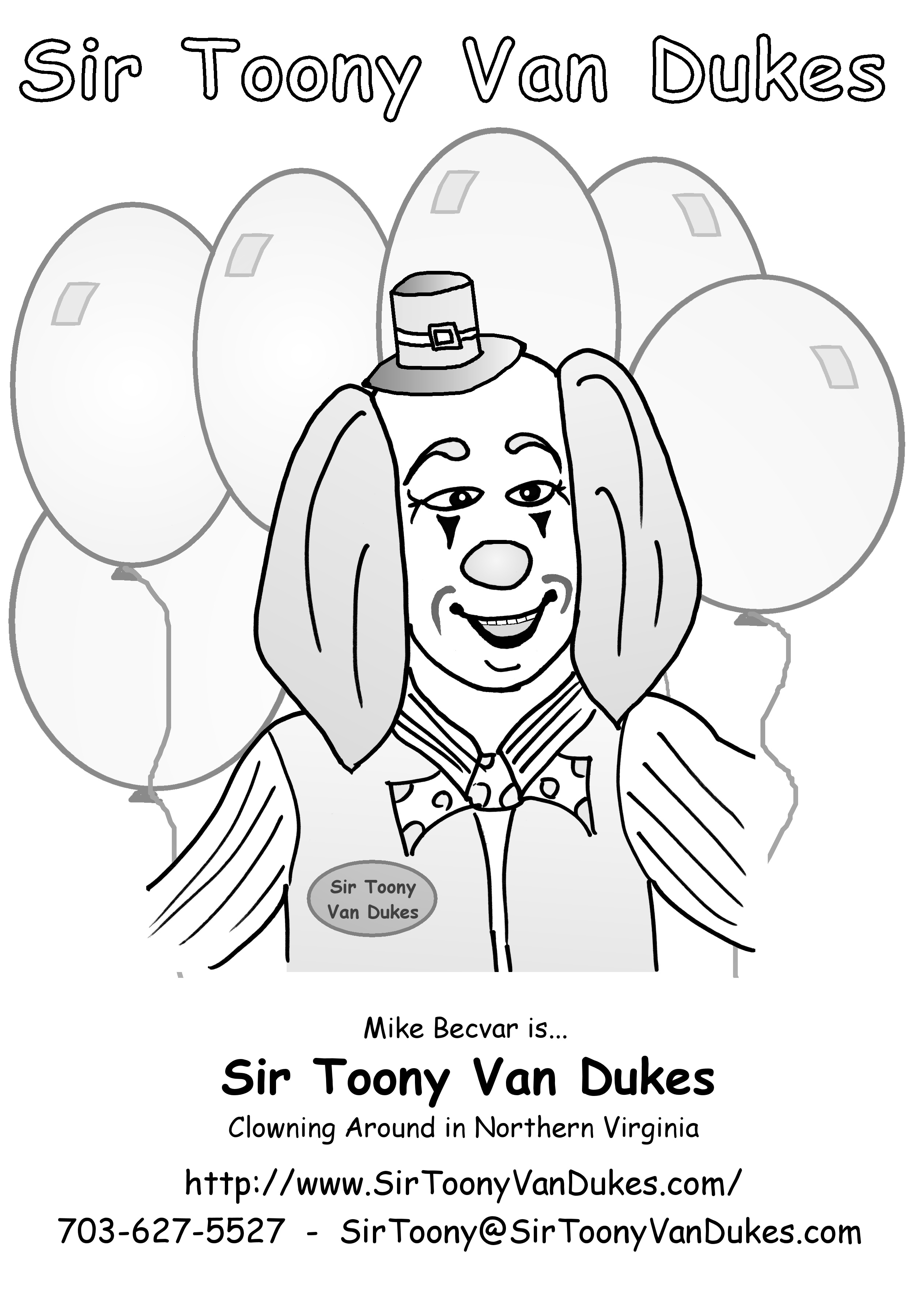 Sir Toony's Coloring Page